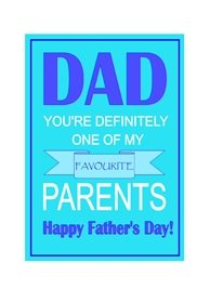 fathers Parent, love, humour, banter personalised online greeting card