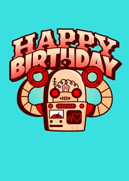 Happy Birthday Robot Kids