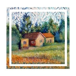 art new house, country cottage, house warming, painting, personalised online greeting card