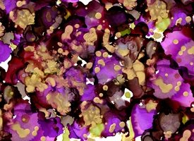 General purple, gold, green, ink, painting, texture, alcohol ink, abstract personalised online greeting card