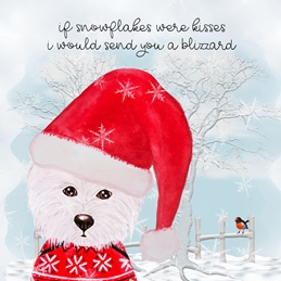 CHRISTMAS dogs westie personalised online greeting card