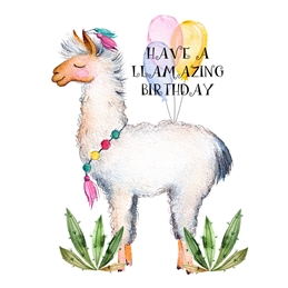 Birthday For-Children, For-Him, For-her, Llama, Aminal, Humorous personalised online greeting card