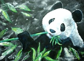 General artwork panda animals zoo wildlife for-her for-him for-children personalised online greeting card