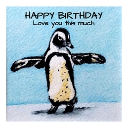 Birthday penguins animals wildlife for-him for-her for-children personalised online greeting card