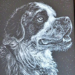 dog, St Bernard,  personalised online greeting card