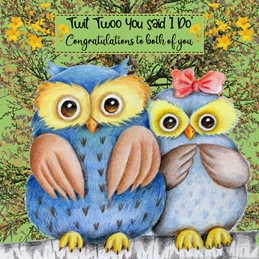 Twit Twoo Wedding card