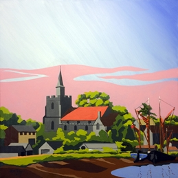 Art Maldon Essex View Sea Church personalised online greeting card