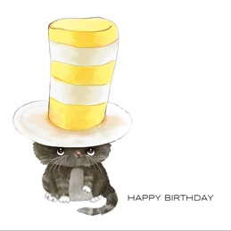 Birthday BIRTHDAY cat celebrate personalised online greeting card