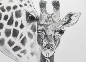General giraffes personalised online greeting card