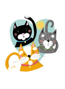 Cats personalised online greeting card