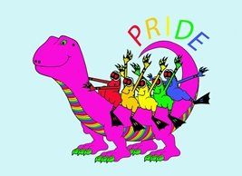 who's your froggie pride ride LGBT pride animals frogs dinosaur personalised online greeting card