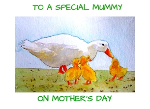 EmilyJane Ducks - Mother's day Mothers artwork ducks ducklings birds for-her  personalised online greeting card