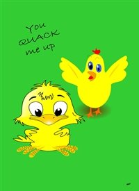 Easter General Chicks Yellow Green Funny  personalised online greeting card