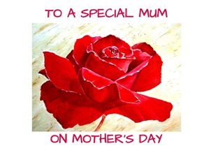Mothers artwork rose flowers  for-her personalised online greeting card