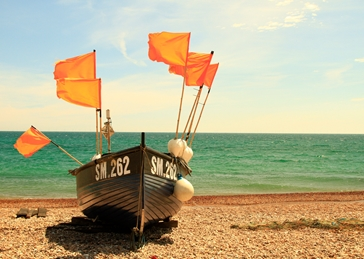 Photography Fishing , Boats, Worthing, Seaside personalised online greeting card