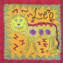 birthday card leo zodiac sign