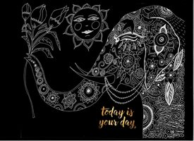 Birthday ,INDIA,ELEPHANT, personalised online greeting card