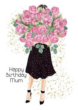 Birthday Mum, Mother, For-Her, Roses personalised online greeting card