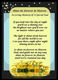 Her Nibs  Shine on forever in Heaven  Sympathy Flowers Yellow Black Gold Sad Memorial For-Him personalised online greeting card