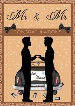 WEDDING LGBT celebrate congratulations personalised online greeting card