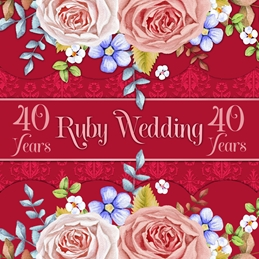 Millymoo Ruby Wedding Anniversary Card  personalised online greeting card