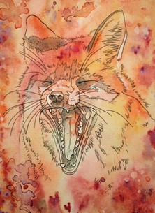 art Vixen Foxes Animals personalised online greeting card