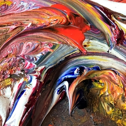 Abstract, Colourful, Oil Painting  personalised online greeting card
