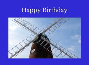 Birthday Horsey windpump wind pumps windmills sails sky Norfolk for-him husband personalised online greeting card