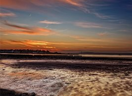 Photography Bangor, Ards, county down, northern ireland, andbc, Ballyholme, sunset, spring, beach, shore, coast personalised online greeting card