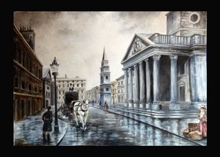 General martins buildings churches st martins london columns for-him for-her general blank all occasions him white horses and carriages man woman roads city london lamposts  vintage for-him personalised online greeting card