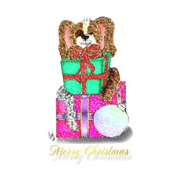 Lizzy'sCardsLTD Puppy Christmas 1 Christmas presents dogs animals  z%a personalised online greeting card