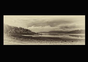 art black and white , coastal, moody, sepia tone,  personalised online greeting card