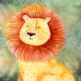 Lion Blank Greeting Card - Any Occasion