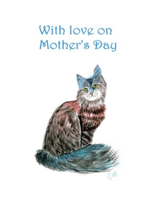 Rainbow Cat Mothers Day Card