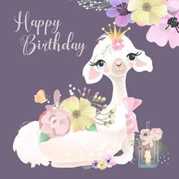 Birthday  BIRTHDAY LLAMA personalised online greeting card