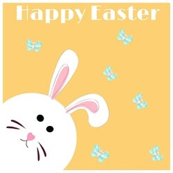 Easter Bunny, chocolate, easter, seasonal  personalised online greeting card