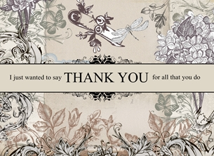 thank Vintage,  Shabby Chic, French Style,  personalised online greeting card
