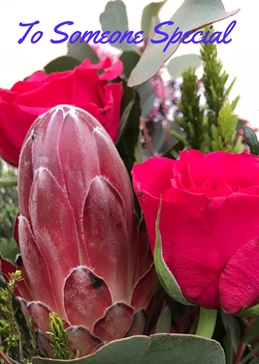 Protea and roses