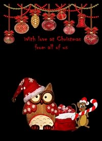 Christmas Owl and Mouse