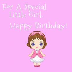 Birthday Children  little girl personalised online greeting card