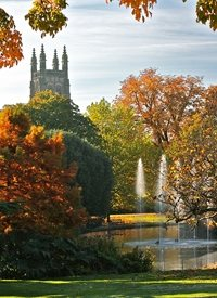 Photography Leamington spa church park autumn photo landscape  z%a personalised online greeting card