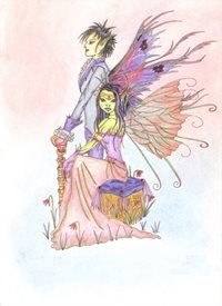 General fairy, fantasy, romantic, artistic personalised online greeting card