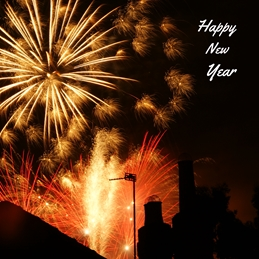 Gary Green Eyes Happy New Year Fireworks Year Christmas New Year fireworks Celebration personalised online greeting card