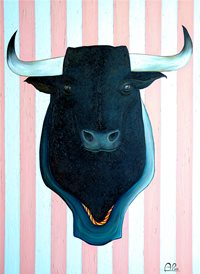 art Bull cow animals z%a personalised online greeting card