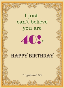 birthday 40 funny him her friend personalised online greeting card