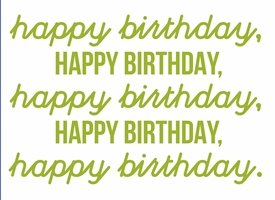 Birthday , Unisex, Green personalised online greeting card