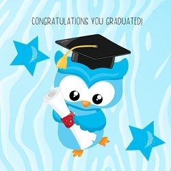 school Boy, College, University, Owl, Wise Owl personalised online greeting card