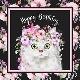 Pretty Cat Birthday Card