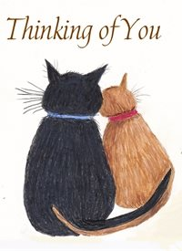 General Cats   Thinking of You personalised online greeting card