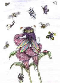 General Fairy, flowers, butterflies, fantasy personalised online greeting card
